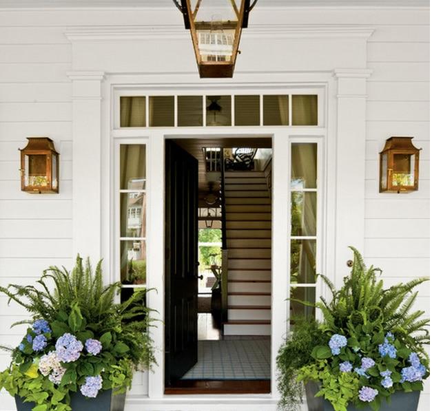 blanco puerta de templado puerta de