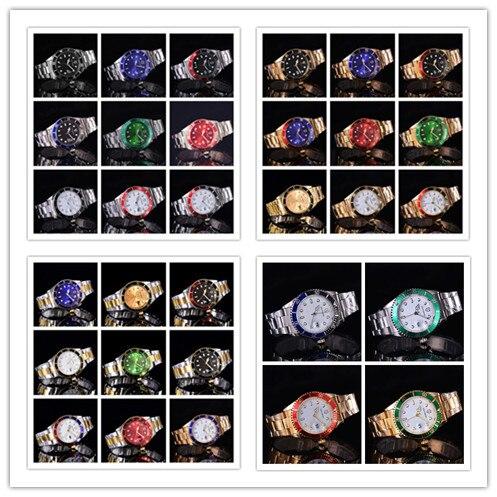 2017 SOUTHBERG Gold Uhr Männer GMT Drehbare Lünette Saphirglas edelstahl Band Sport Quarz Armbanduhr reloj relogio 40 MM