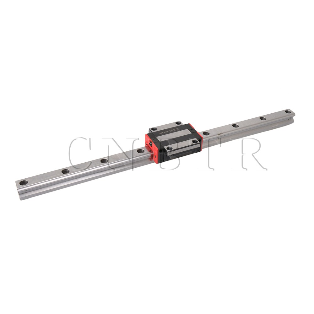 CNBTR 500mm Length HG25 Linear Rail Guide with 47mm Width HGW25CC Carriage Block for 3D Printer and Linear Motion CNBTR 500mm Length HG25 Linear Rail Guide with 47mm Width HGW25CC Carriage Block for 3D Printer and Linear Motion