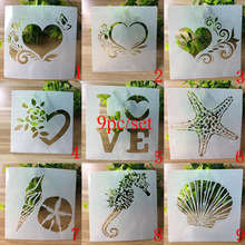 9pc/set Stencil Bullet Journal supplies for painting accessories Templates Student Openwork Template Embossing For Scrapbooking