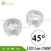 Lente LED 1 W 3 W 5 W COB Chip A Diodi 13 MM Mini Lenti IN PMMA 45 Gradi Per 1 3 5 W Watt HA CONDOTTO LA Lampadina Riflettore Crescere luci