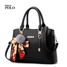 PU Leather Top-handle Women Handbag Solid Ladies Lether Shou
