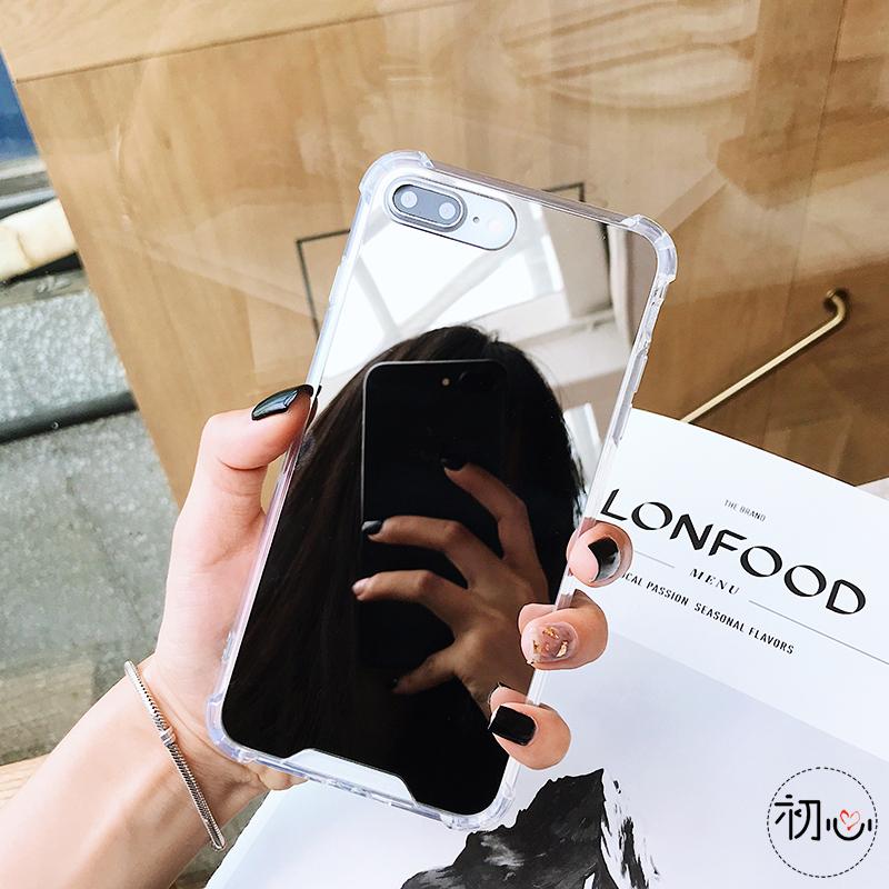 Human - Gasbag Drop Proof Mirror Case for iphone XR 7 8 XS MAX XSmax X 10 6 6S