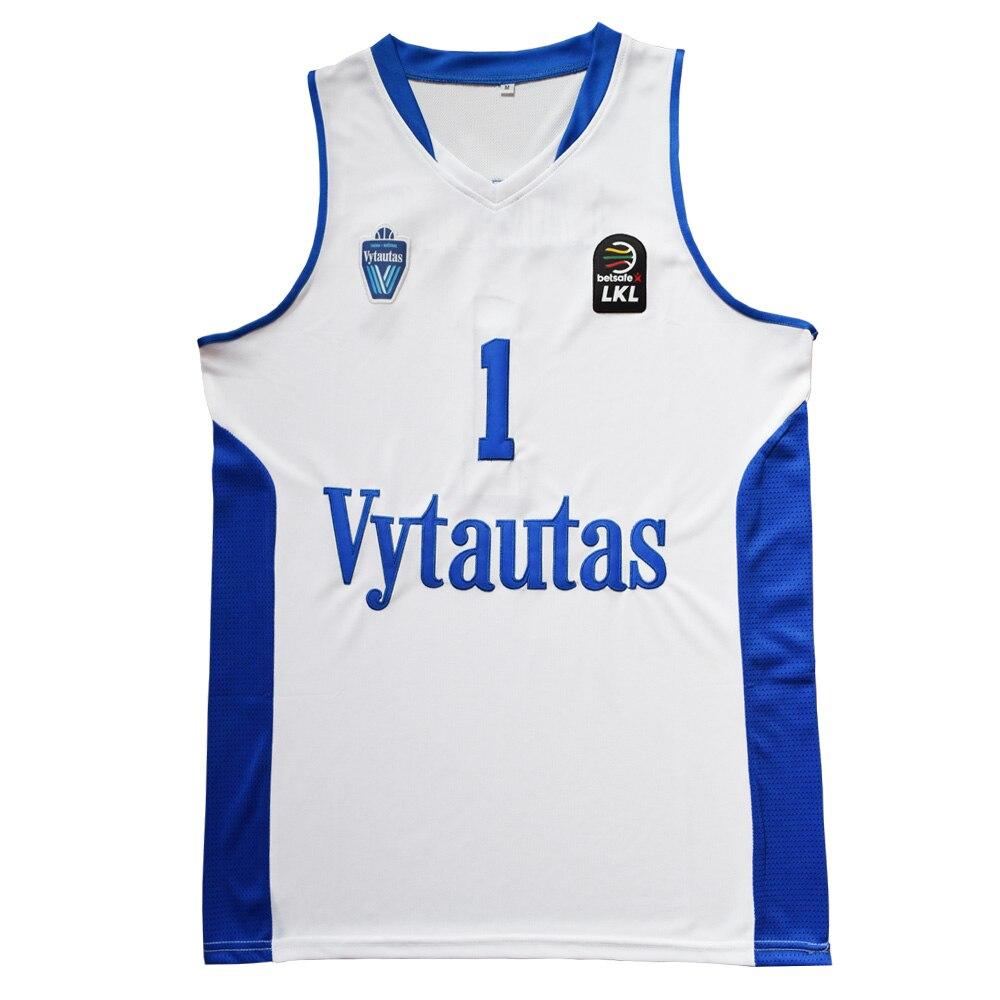 MM MASMIG LaMelo Bola #1 Bola #3 Lituânia Vytautas LiAngelo Basketball Jersey Costurado Branco Edição Limitada