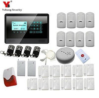 Touch Keypad Wireless Home Burglar Alarm System DIY Kit With Auto Dial Outdoor Siren PIR Motion