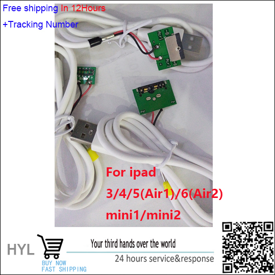 New Battery Activate Charge Board cable Micro USB Cable For ipad 3/4/5(Air1)/6(Air2)/mini1/mini2