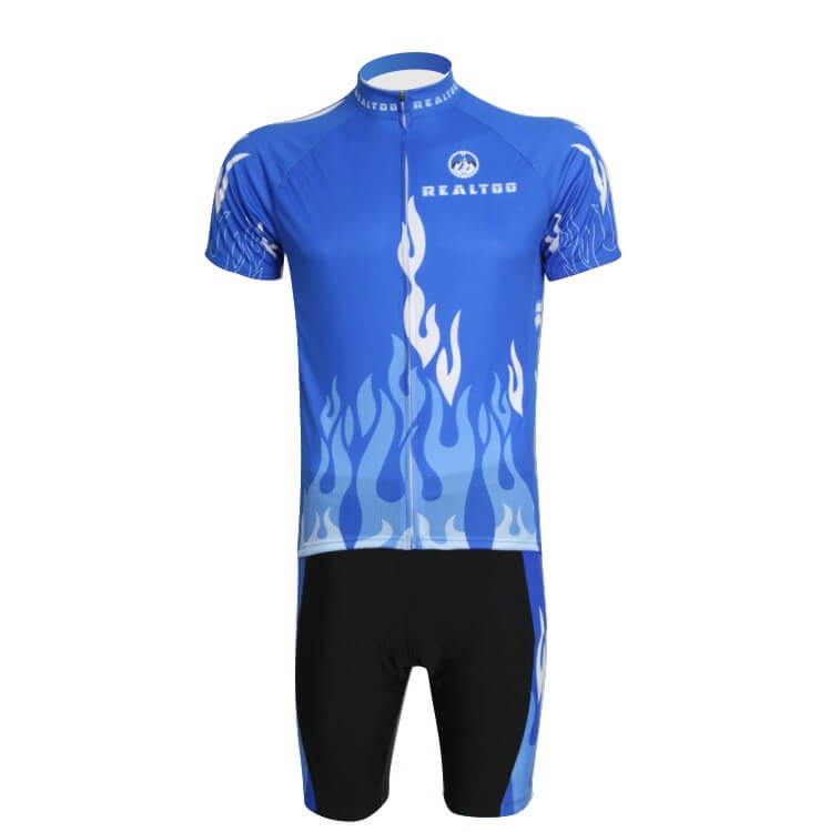 REALTOO Cycling Jersey Short Set Bike Cycling Breathable Short Sleeve Quick drying Clothes Men 3D Sponge Pad Summer Wear