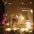 2 M 20 LED de Bateria Operado Luzes LED String para o Natal Festa de Casamento Guirlanda Decoração de Natal Flasher Luzes Branco Quente