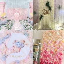 Высокое качество 40×60 см Шелковая Роза искусственная цветы свадебные декорации цветок стены романтическая для Свадебные фоновые декорации
