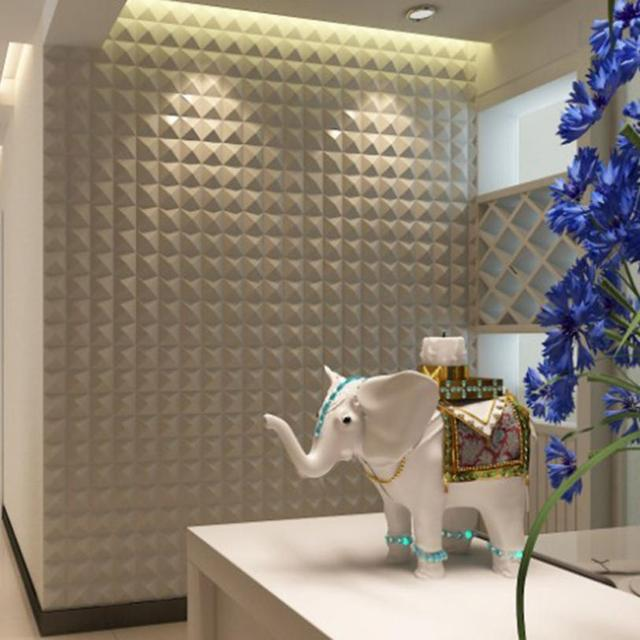 2pcs Pe Foam Self Adhesive Wall Stickers Decor Tile Waterproof Diamond Three
