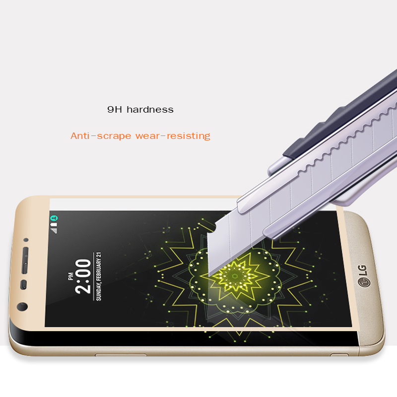Image 2 - 3D Full cover Tempered Glass For lg g5 H850 VS987 H820 LS992 H830 US992 Screen Protector Film Anti Scratch 5.3inch Protection-in Phone Screen Protectors from Cellphones & Telecommunications on