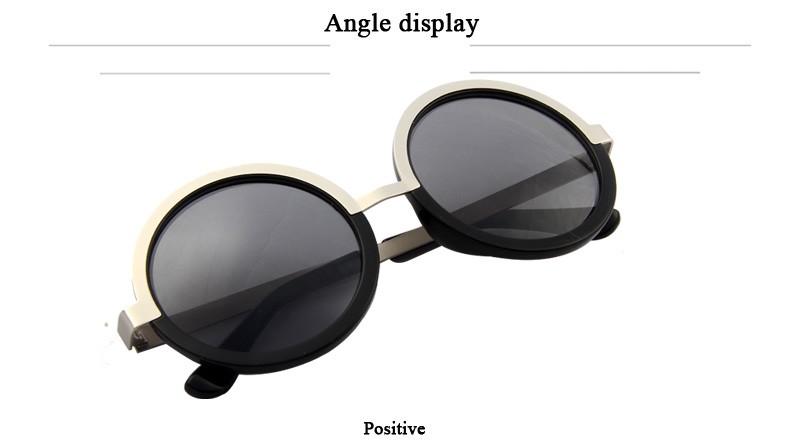 126b9a5095b09 LOVL Fashion Women Round Sunglasses Retro Star Style Brand Designer ...