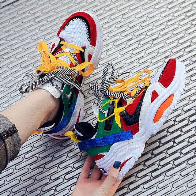 Women Vulcanize Shoes Fashion Sneakers Female Walking Shoes Women Shoes New Women Sneakers Platform Shoes Women Chunky Sneakers