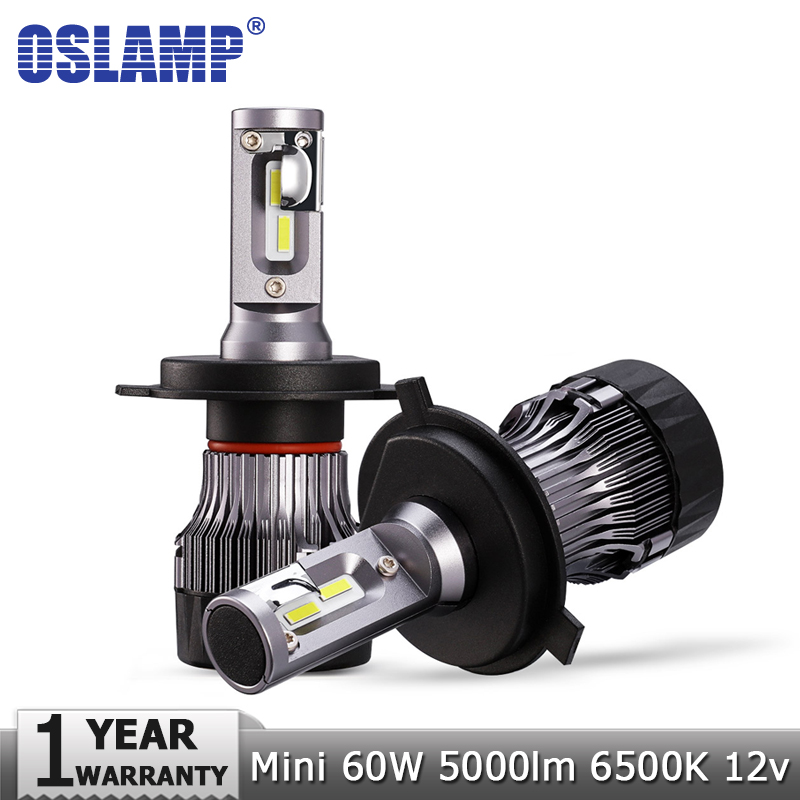 Oslamp H4 H7 H11 9005 9006 Car Led Headlight Bulbs Hi lo Beam 12v 24v CSP Chip 60W 5000LM 6500K Led Auto Headlamp Led Light Bulb oslamp h4 h7 led headlight bulb h11 h1 h3 9005 9006 hi lo beam cob smd chip car auto headlamp fog lights 12v 24v 8000lm 6500k