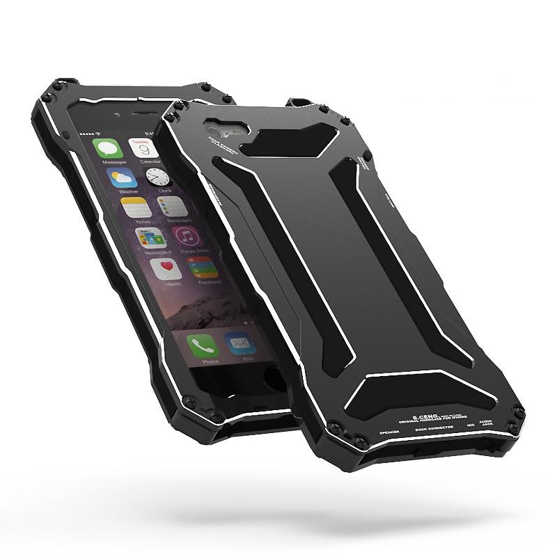 bilder für Luxus Wasser/Dirt/Shock Proof Gorilla Glas Metall Aluminium Fall-abdeckung Für iPhone 5 S SE 6 6 s Plus Wasserdicht Stoßfest Shell