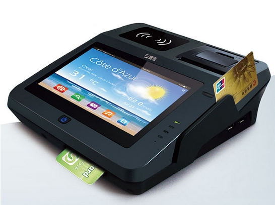 Android All In One Pos Terminal With EMV Support Magcard/IC Card Consumer Terminal