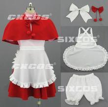 Anime vampire hunter darkstalkers partido lolita maid dress cosplay traje s-xl