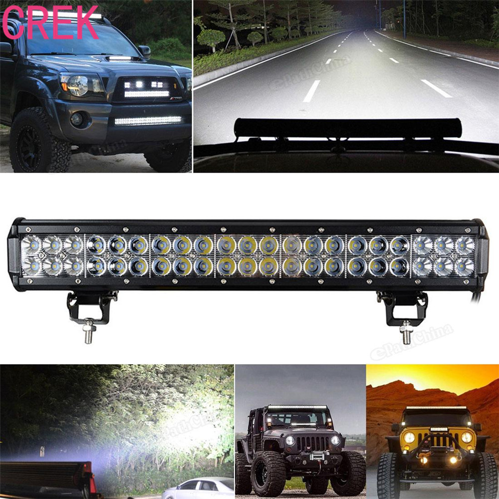 CREK 20 Inch 8820 lumens 126W 12V Car LED Work Working Bar Combo Light For Truck Tractor Trailer ATV UTV 4X4 SUV Boat 4WD  20 126w c r e e led light bar tractor truck trailer 4x4 4wd suv atv off road car led 12v 24v working lamp ip67 save on 180w