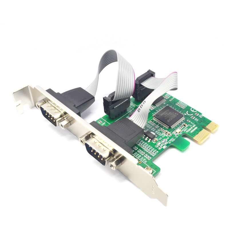 Add On Cards RS 232 Adapter PCI Express 1X Computer Expansion Cards RS232 PCI-E X1 Computer Components 2 Port Serial Card