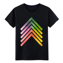 Men's Rainbow Arrow t shirt Designing cotton Crew Neck Leisu