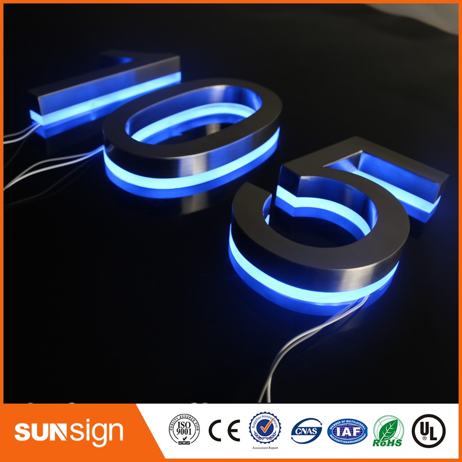 Beautiful Entrance Gate Accessories LED House Numbers And Letters & Apartment LED Numbers And Letters Size H250mm