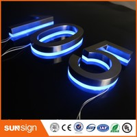 Beautiful Entrance Gate Accessories LED House Numbers And Letters Apartment LED Numbers And Letters Size H250mm
