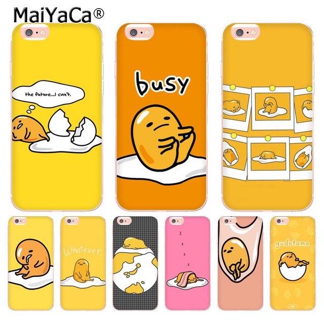 quality design 42443 8ba4b US $1.32 49% OFF|MaiYaCa cute lovely gudetama lazy egg Novelty Fundas Phone  Case Cover for Apple iPhone 8 7 6 6S Plus X 5 5S SE XS XR XSMAX-in ...