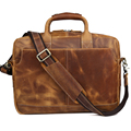 TIDING Top Quality handbag for men vintage brown laptop briefcase p10193