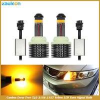 2 шт. CANBUS ОШИБОК T25 3156 P27W 3157 P27/7 Вт высокое Мощность 30 Вт желтый светодиод мерцания -Бесплатная указатель поворота габаритной лампы
