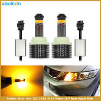 Canbus Error Free T25 3156 P27W 3157 P27 7W High Power 30W Yellow LED Flicker Free