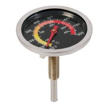 Stainless Steel BBQ Smoker Grill Thermometer Temperature Gauge 50-800 Degrees Fahrenheit