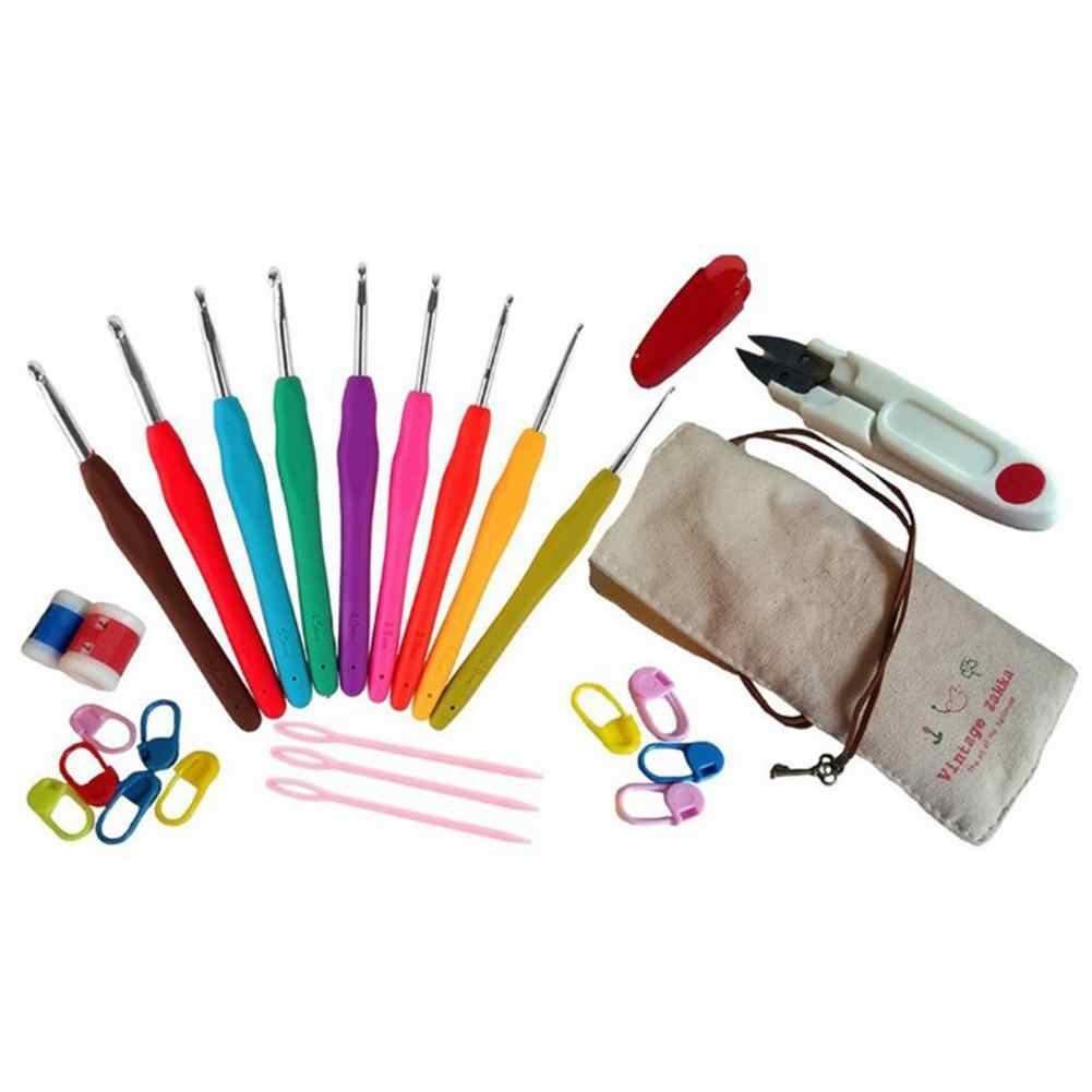 Novice набор инструментов для вязания крючком бытовые инструменты для мягкой ручки алюминиевая вязанная шерсть