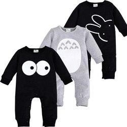 2016 Fashion Cute Animal Romper Cartoon Big Eyes Unisex Baby Clothes Rabbit Newborn Baby Jumpsuit Ropa Bebe Recien Nacido