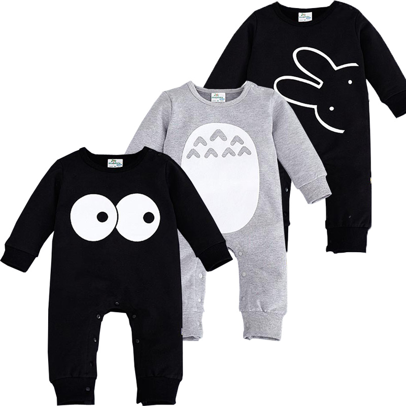 2018 Fashion Cute Animal   Romper   Cartoon Big Eyes Unisex Baby Clothes Rabbit Newborn Baby Jumpsuit Ropa Bebes Recien Nacido