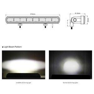 Image 2 - 16 lumières de barre de lumière Led de travail de pouce 80W pour des voitures de Lada Niva faisceaux dinondation 4x4 outre de lexcavatrice 12V 24V de camions de bateau de tracteur datv de SUV de route