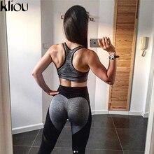 Kliou 2017 Women Leggings For Female High Waist Fitness Pants Legging Workout Mesh Leggings Bodybuilding Clothes Body Shapers