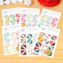6 моделей 24 шт/лист эпоксидной резины наклейки-уголки для фото Скрапбукинг милый альбом украшения ремесло стикер