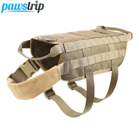 Outdoor Military Pet Dog Vest Harness Strong Nylon Large Dog Harness Police German Shepherd Costume