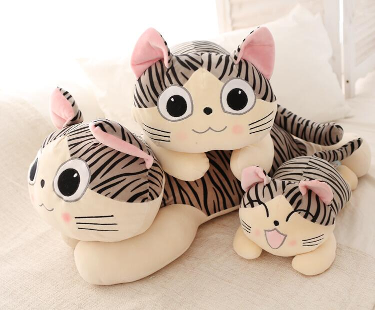 1pc 35cm 45cm 55cm super soft Chis sweet home Cheese cat NEW YEAR Christmas kids gift plush doll novelty stuffed toy