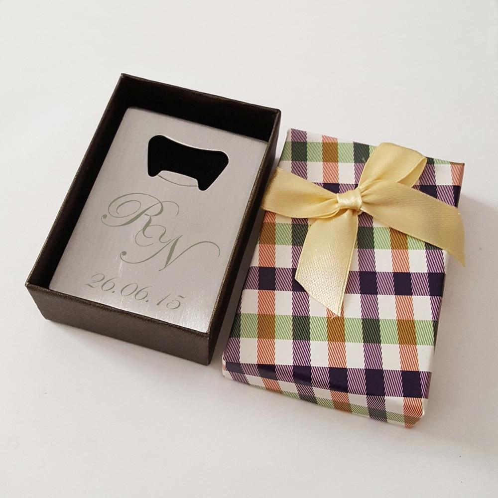 Personalisierte Karte Flaschenöffner in Box Personalisierte Hochzeit ...