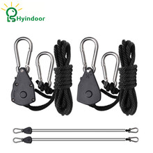 """1/8"""" Lights Lifters Rope Ratchet Grow Lights Reflector Hangers (10pieces,5pairs)"""