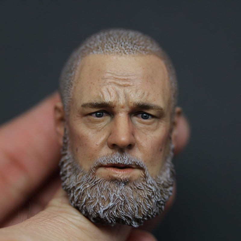 1/6 Scale Russell Crowe Male Head Sculpt For 12 Hot Male Muscular Body Action Figure 1 6 male head sculpt old logan head carving for 12 muscular body figure collections