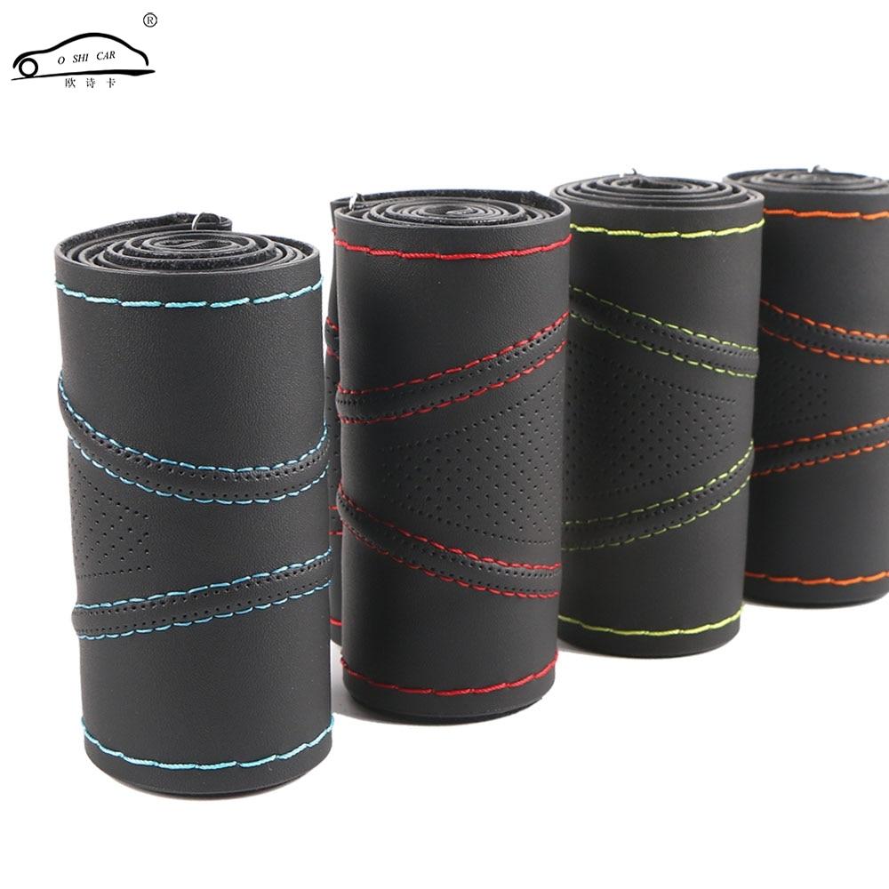 Super anti-tragen Auto Lenkrad Abdeckungen/Universal 38 cm Dreidimensionale Atmungsaktive Anti-slip lenkung-Rad sleeve Schutz