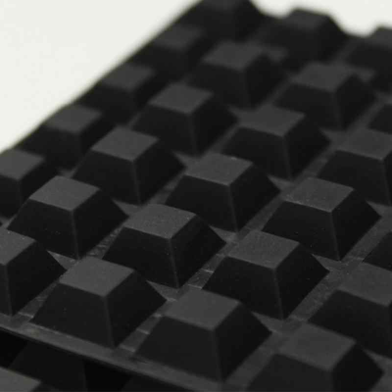 40Pcs Self-Adhesive Insulation Rubber Bumper Stop Non-Slip Feet Door Cabinet Drawers Buffer Pads for Home Funiture Color: Black