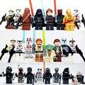 24 unids/set BB8 starwars Darth Vader de Star Wars Yoda Obi-Wan 7 Bloques de Construcción de Ladrillo compatible legoes kids Toy figura