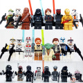 24pcs/set Star Wars Yoda Obi-Wan Darth Vader BB8 starwars 7 Building Blocks Brick compatible legoes kids Toy figure
