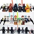 24pcs/set Star Wars Yoda Obi-Wan Darth Vader BB8 starwars 7 Building Blocks Brick compatible legoes kids Toy figure