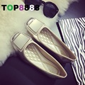2016 Hot Sales Size 35-41 # 2 Colors Square Toe Lady Flat Shoes Elegant Fashion PU Shoes Comfortable Footwear Woman Shoes C038
