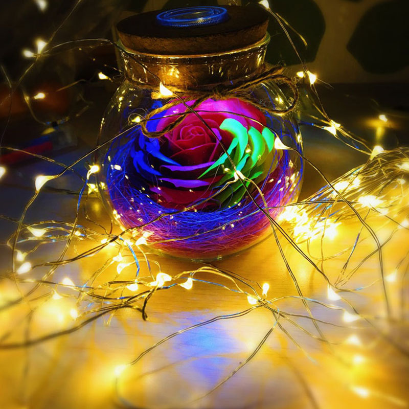 Image 3 - 10/20m copper Wire Battery LED String Light with Remote Controller For Wedding Christma Party Holiday Halloween Decoration light-in LED String from Lights & Lighting on