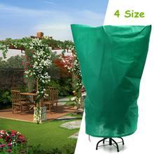 Сумки для защиты растений, зимний чехол для растений, садовый инструмент, чехол для растений, сумка из полиэфирной ткани, Органическая сетка против насекомых, 4 размера